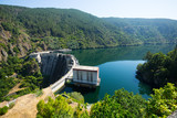 Fototapety view of dam at Sil river.  Galicia