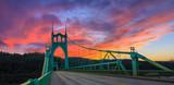 St. John's Bridge in Portland Oregon, USA - 99390032