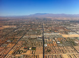 Aerial view of city near Las Vegas, USA.