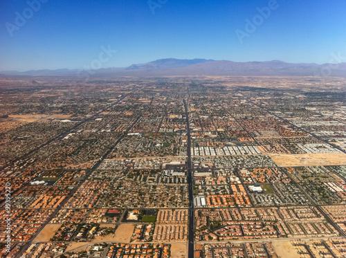 Aerial view of city near Las Vegas, USA.