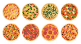 Pizza on a white background. Collection. - 99398851