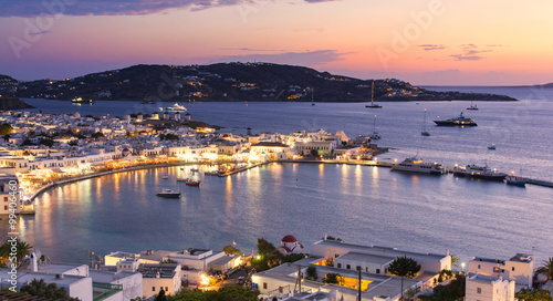 Zdjęcia na płótnie, fototapety, obrazy : Mykonos island at evening in Greece, Cyclades