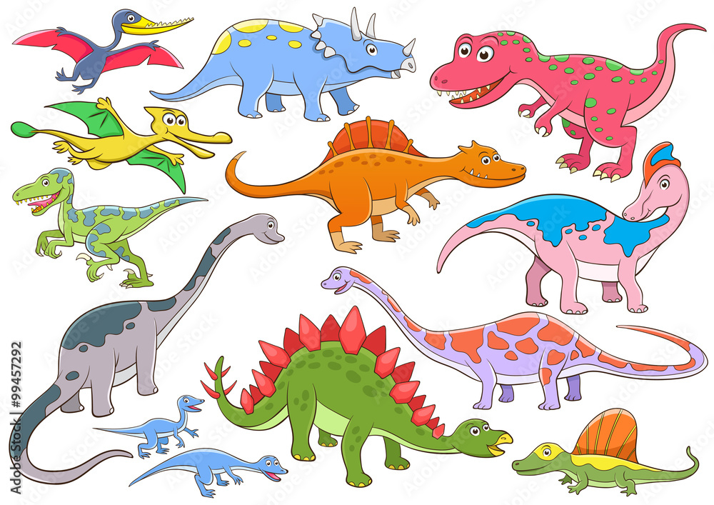 Illustration of cute dinosaurs cartoon character