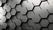3D Hexagon Hintergrund aus Metall