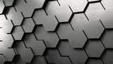 Fototapety 3D Hexagon Hintergrund aus Metall