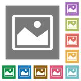 Fototapety Image square flat icons