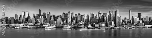 Foto op Aluminium New York Black and white New York City panorama