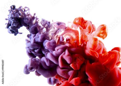 purpurowa czerwona abstrakcjonistyczna sztuka