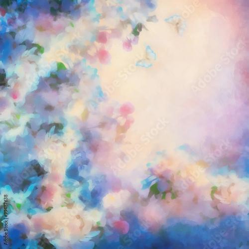Panel Szklany Spring Cherry Blossom