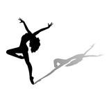 Fototapety dancer silhouette