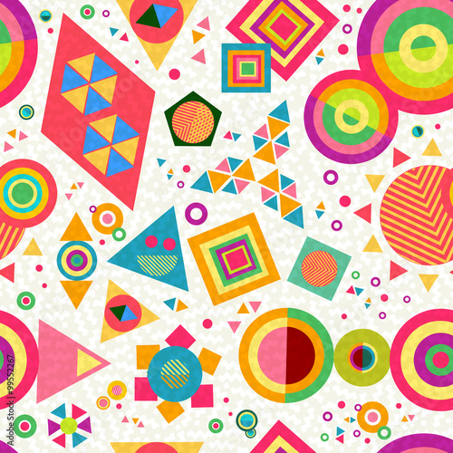 Cotton fabric Seamless pattern geometry shape colorful abstract