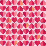 Fototapety retro seamless valentines day hearts pattern