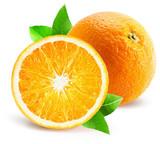 orange with half of orange isolated on the white background - 99562611