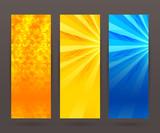 Set vertical banner background template layout flyer43