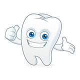 Tooth cartoon mascot clean and happy - 99614066