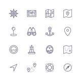 mapy cestování ikony