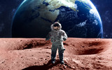 Fototapety Brave astronaut at the spacewalk on the mars. This image elements furnished by NASA.