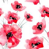 Watercolor flowers seamless pattern. - 99644434