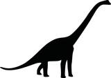 Dinosaur diplodocus silhouette