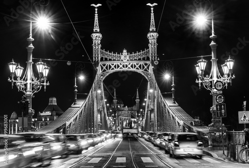 Juliste Budapest, Liberty Bridge, Hungary