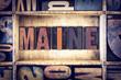 Maine Concept Letterpress Type