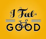Bike concept bicycle retro poster feel good