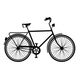Vintage Bike silhouette isolated bicycle