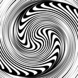 Black and white spiral optical illusion