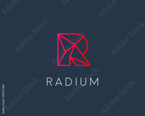 Abstract Trend Letter R Logo Design Template Colorful Structure