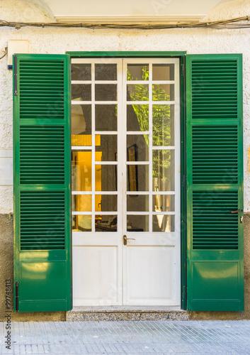 Fototapeta Landhaus Eingang Villa Mediterran