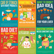 ������, ������: Digestion Posters Set