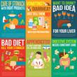 Постер, плакат: Digestion Posters Set