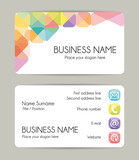 Fototapety Creative graphic business card design. Front and back. Vector set.