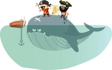 pirates à la recherche d'un trésor