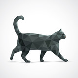 Black cat from geometric elements