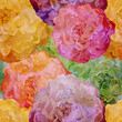 Abstract seamless pattern with retro roses flowers. Vector, EPS 10