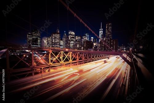 Zdjęcia na płótnie, fototapety, obrazy : Evening Traffic in New York