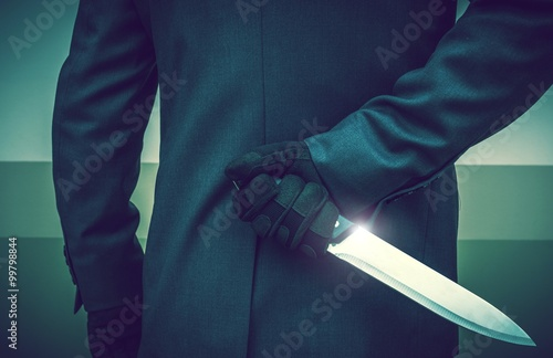 Poster Murderer with Huge Knife