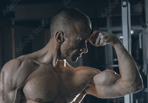 fototapeta na ścianę very power athletic guy bodybuilder
