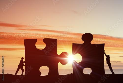 Foto Murales Cooperate for successful work
