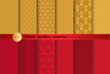 Cotton fabric Chinese new year patterns, Pattern Swatches, vector, Endless texture can be used for wallpaper, pattern fills, web page,background,surface