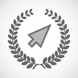 Isolated laurel wreath icon with a cursor