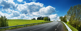 Fototapety Road panorama on sunny spring day
