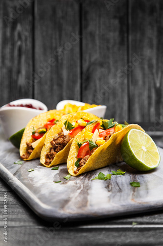 Delicious beef tacos Poster