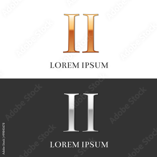 2 Ii Luxury Gold And Silver Roman Numerals Sign Logo Symbol