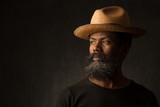 Black African American man portrait - 99849684