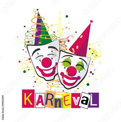 Gamesageddon Carnival Karneval Masken Vektor Lizenzfreie Fotos