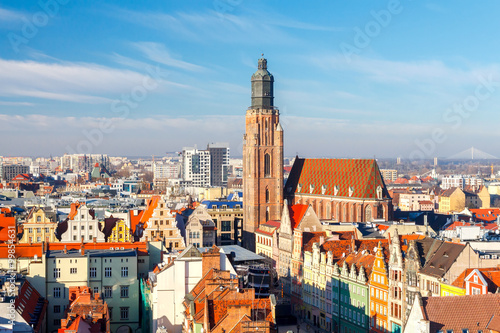 Wroclaw. View of the city from above.