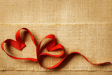 Valentines Day Heart, Wedding couple, Valentine Hearts Sackcloth
