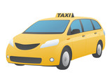 Fototapety yellow taxi, vector illustration